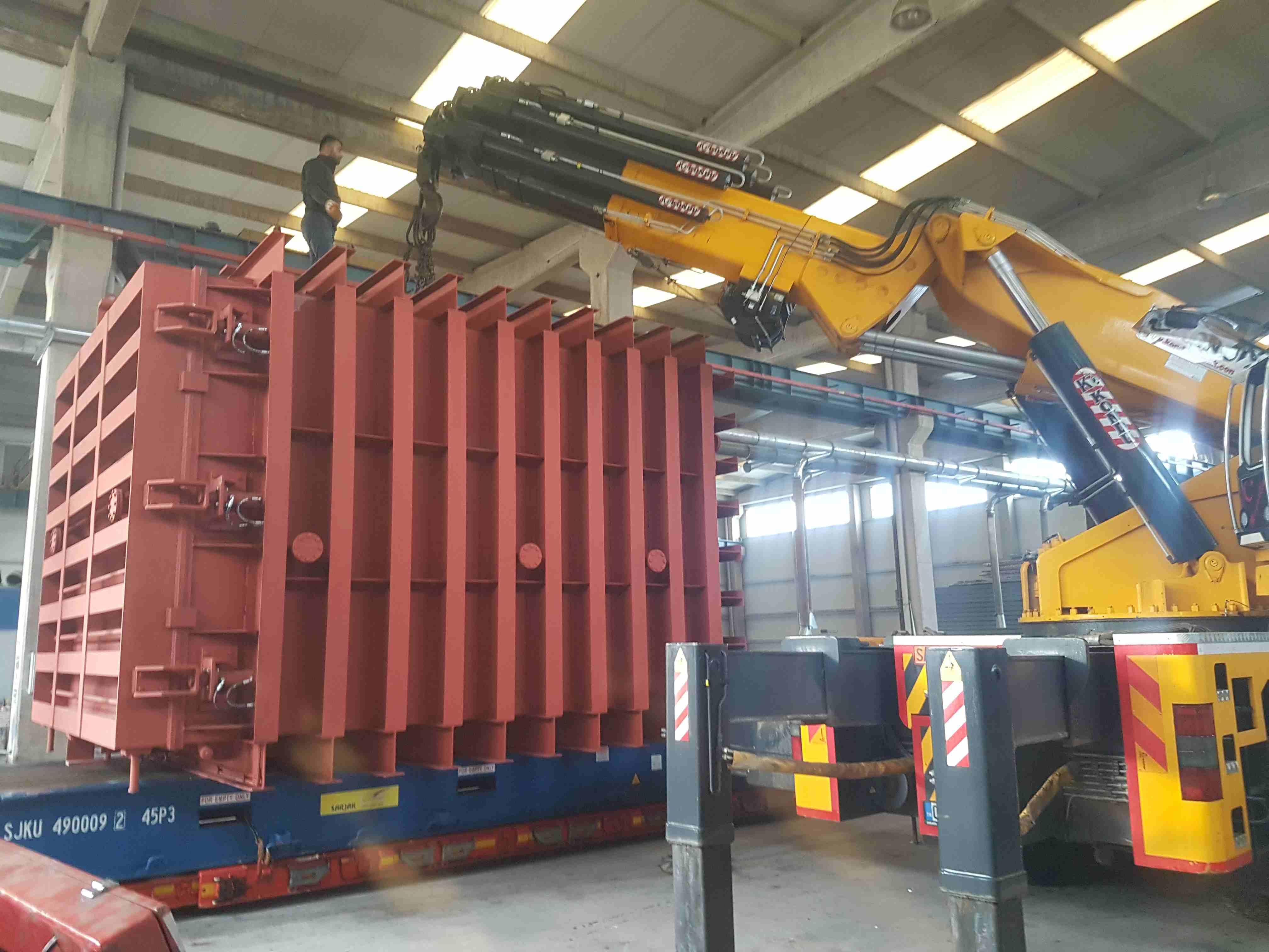Large transformer vacuum drying chamber construction 3