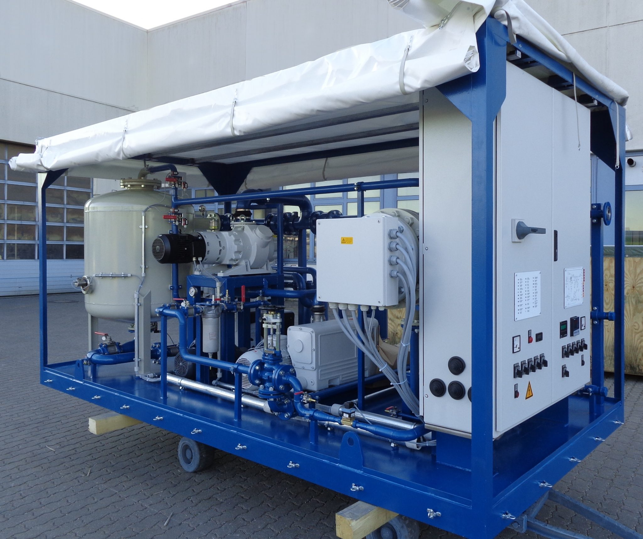 EOK Transformer Oil Purification Plant Canvas Trailer 1