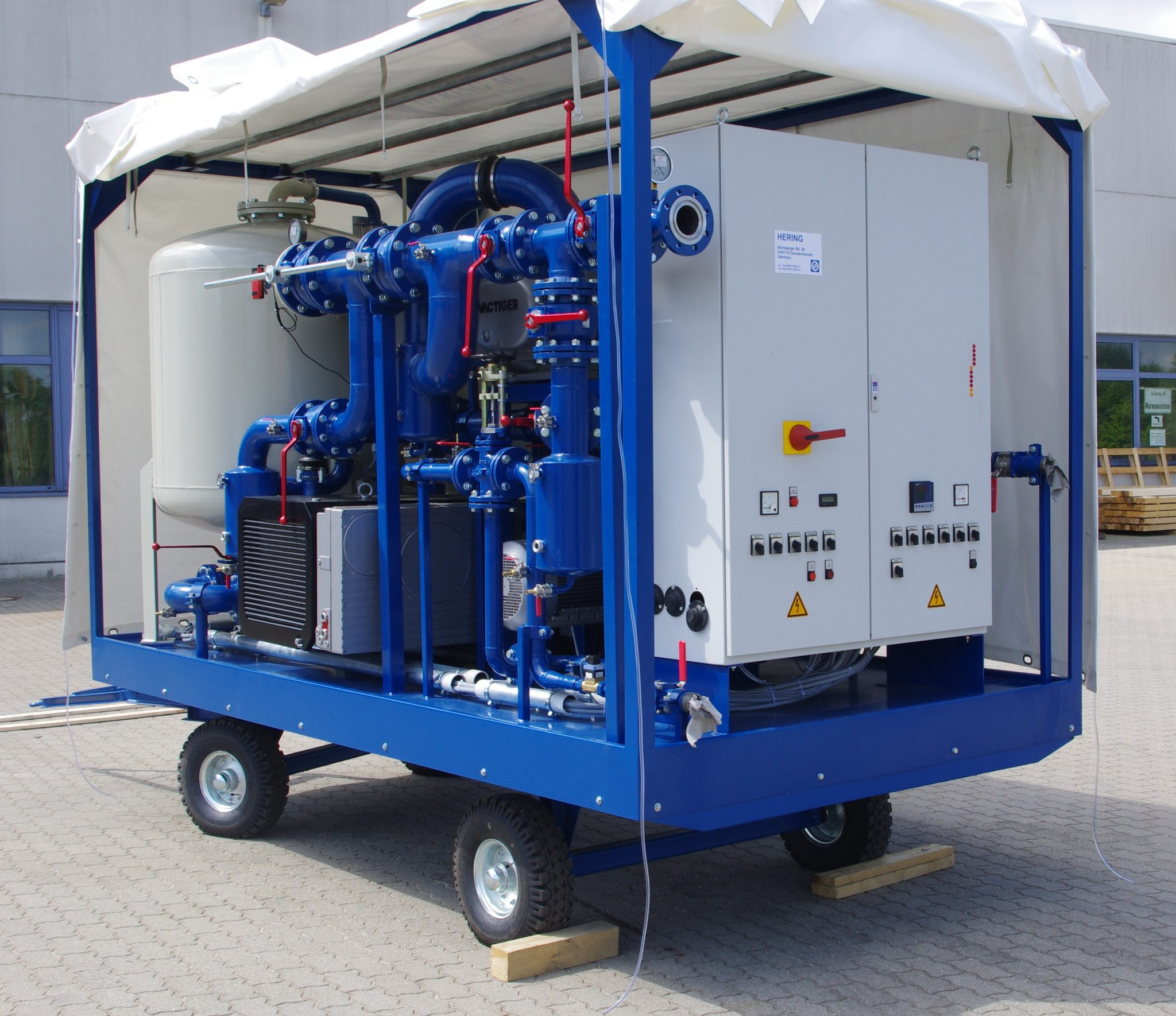 EOK Transformer Oil Purification Plant Canvas Trailer 2