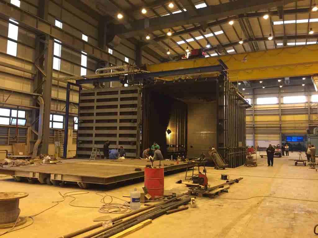 Large transformer vacuum drying chamber construction 1