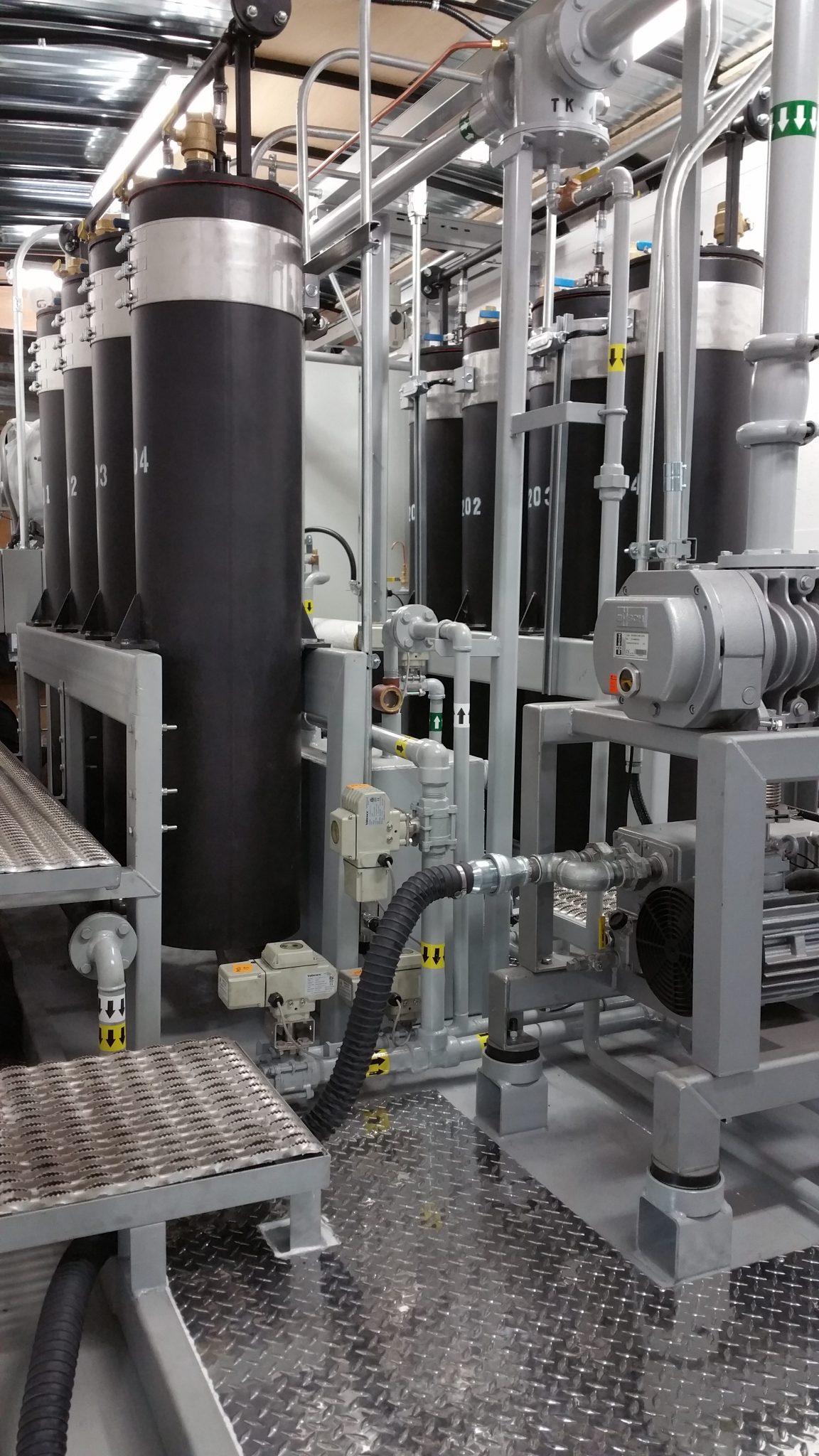Transformer oil regeneration system column skid 1