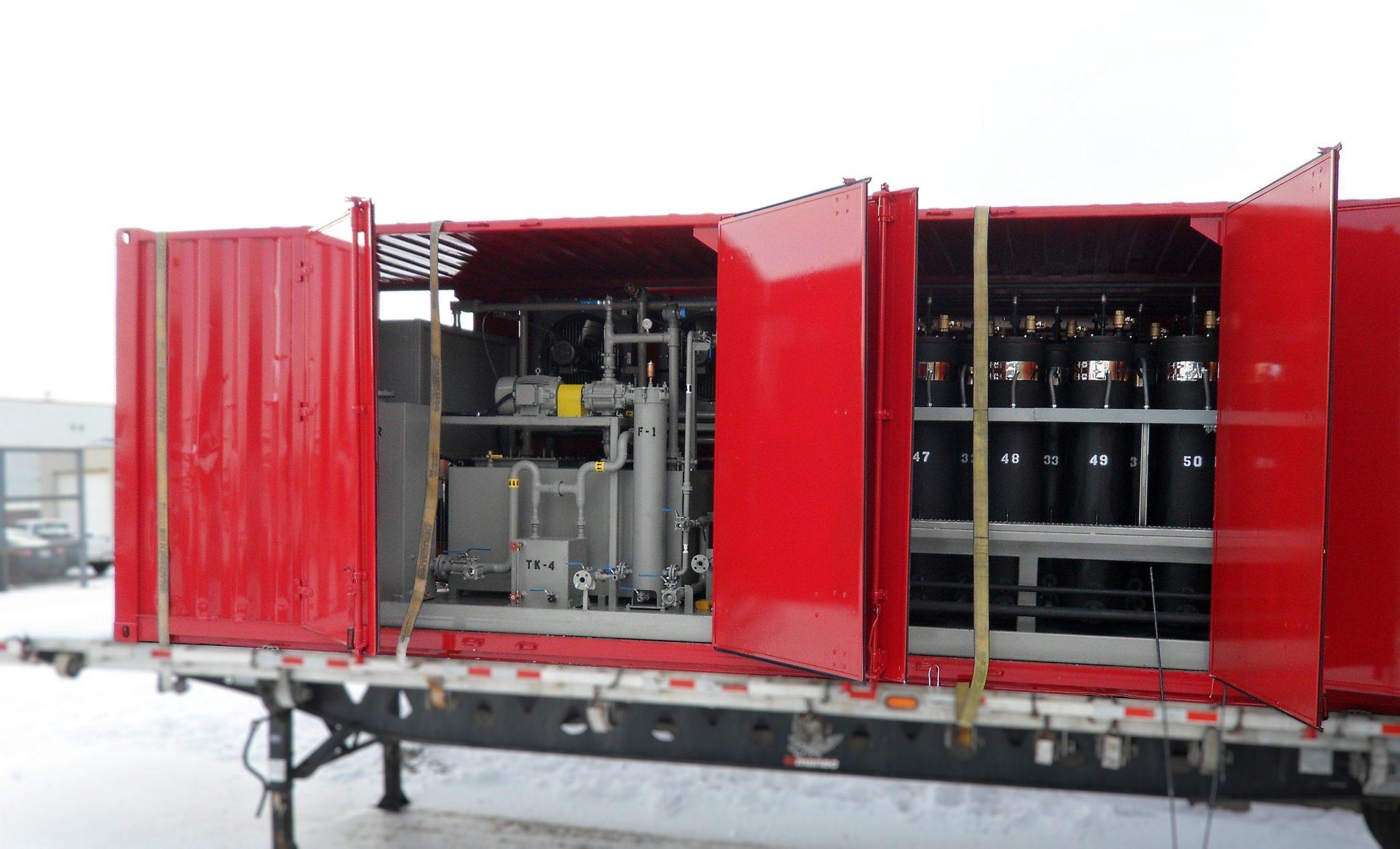 Transformer oil regeneration system container 1