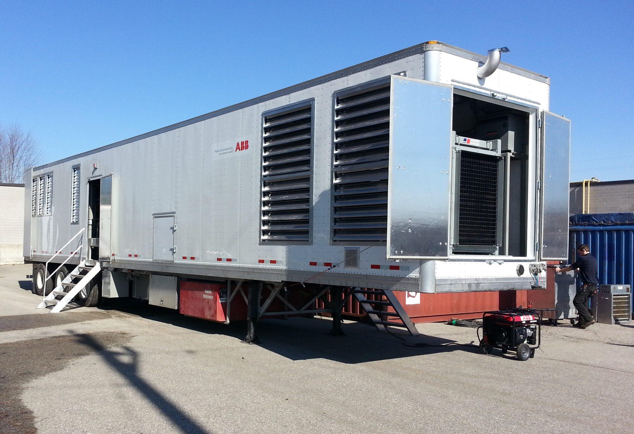 Transformer oil regeneration system trailer ABB 1