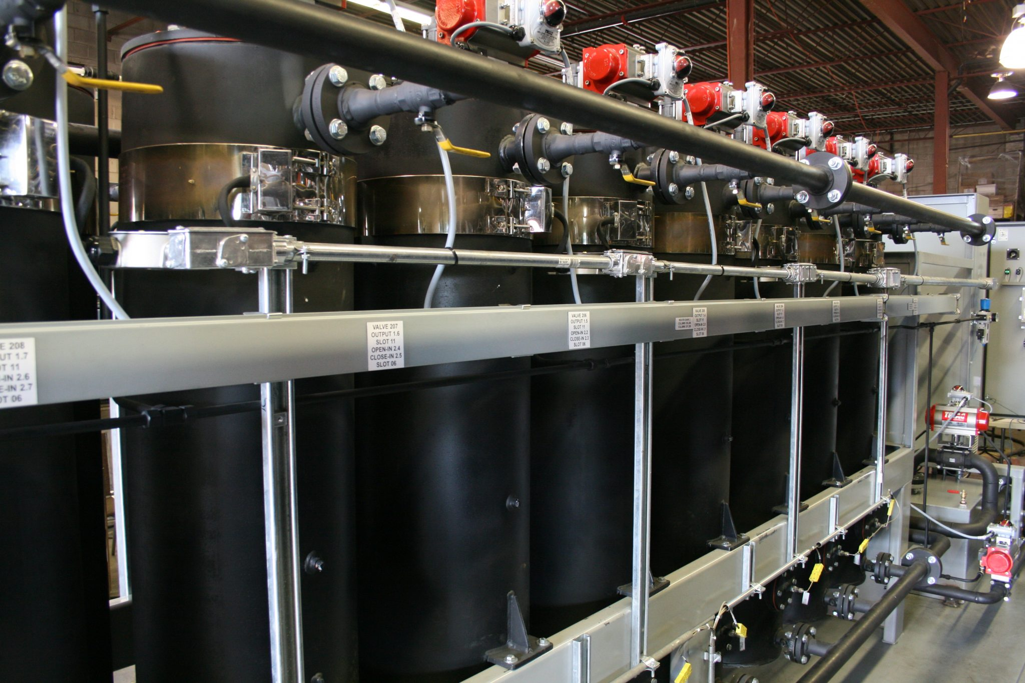 Lube oil polishing columns side profile