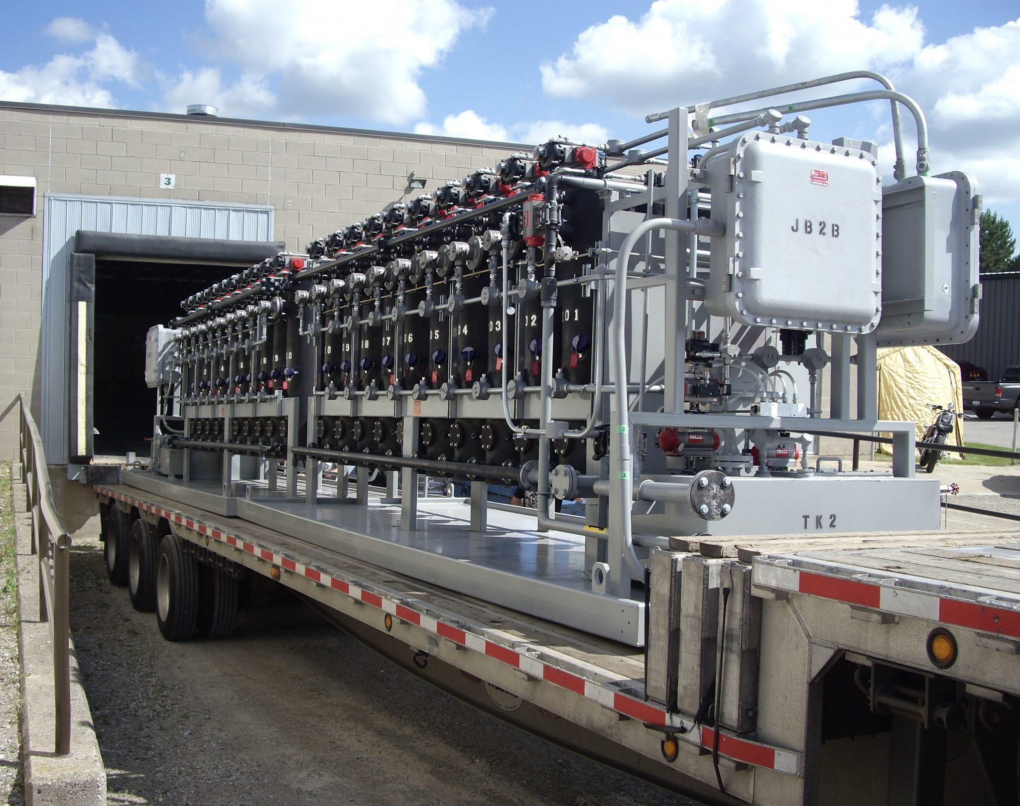 Stationary lube oil polishing system module transport 2