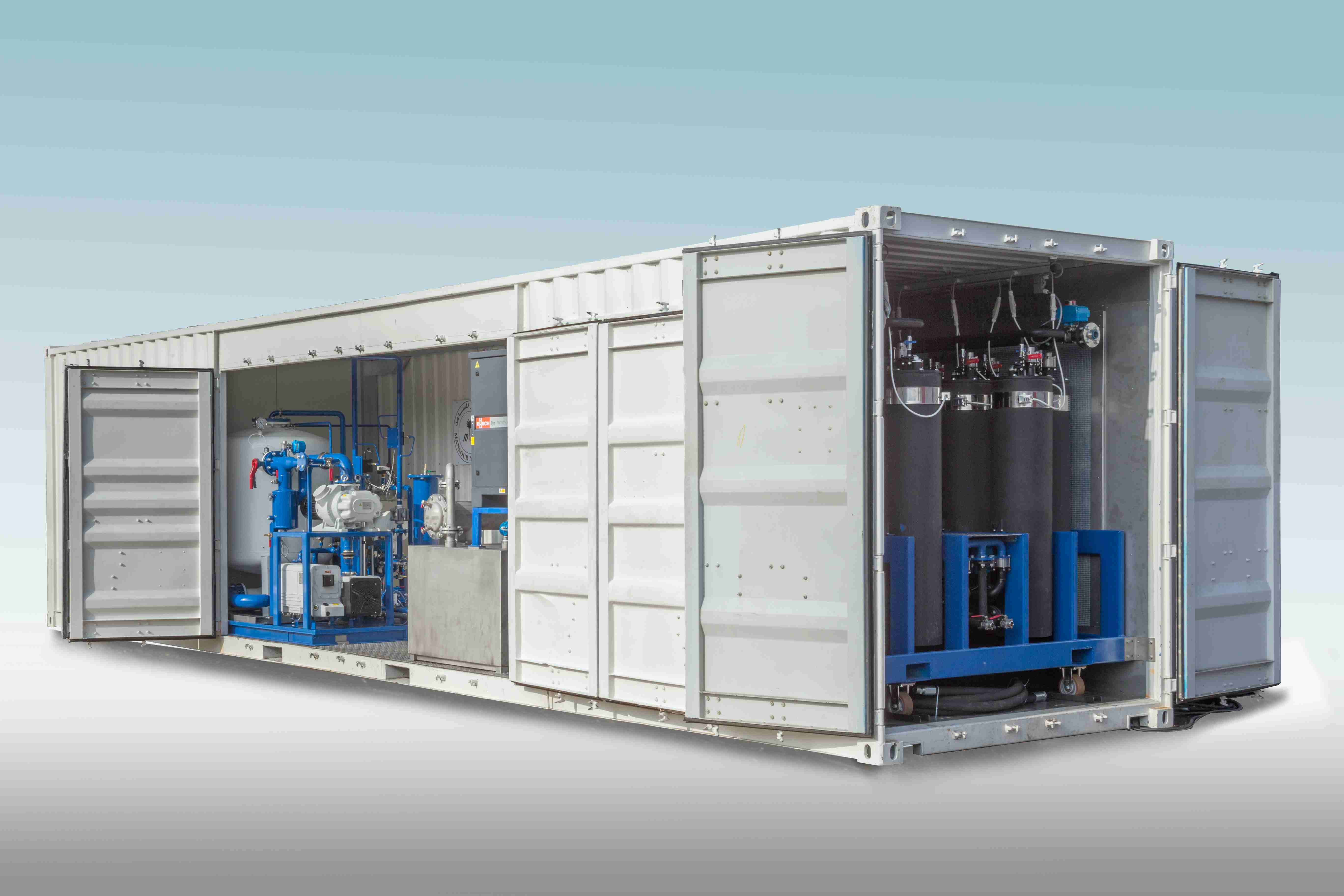 Transformer oil regeneration system container 2
