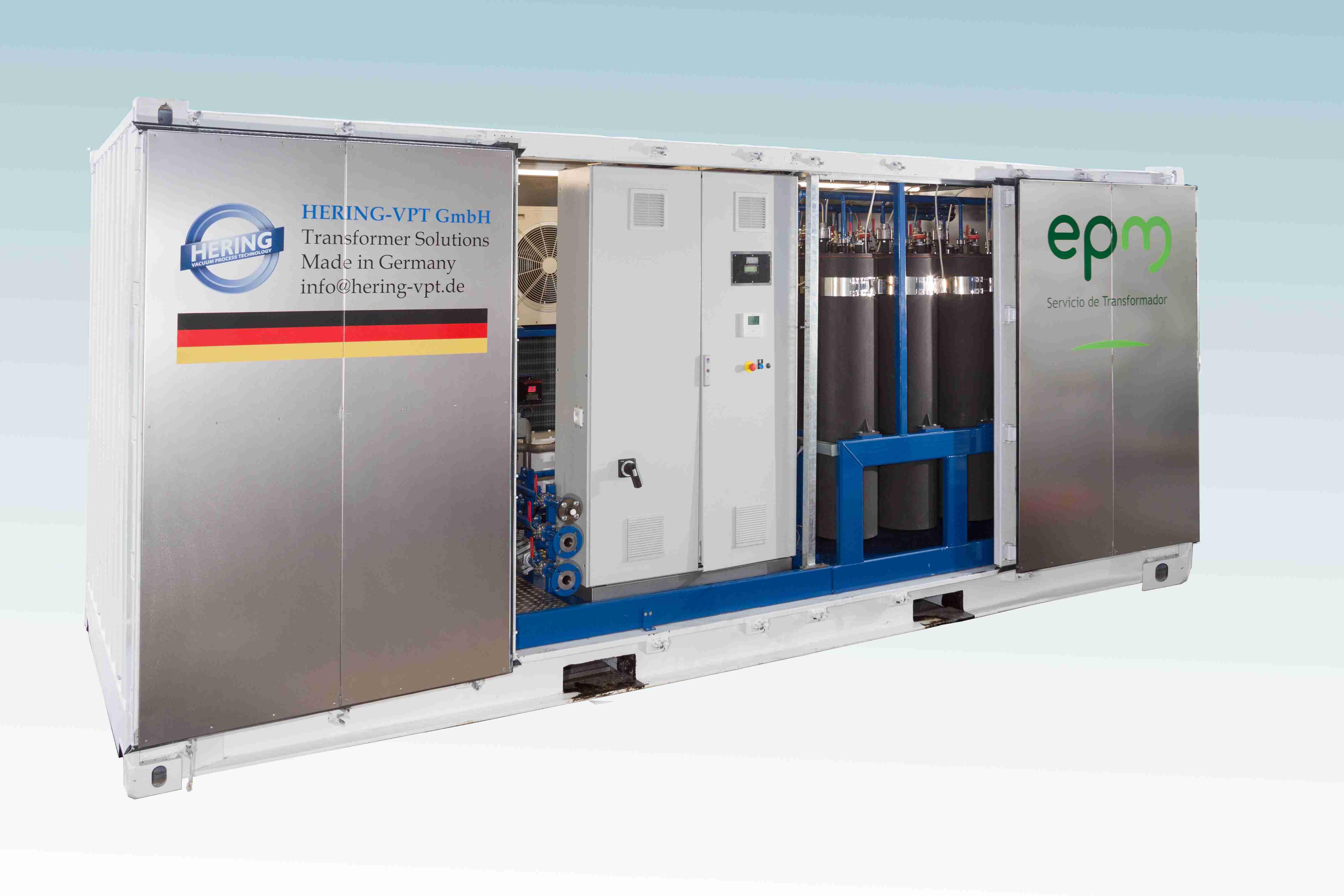 Transformer oil regeneration system container 3