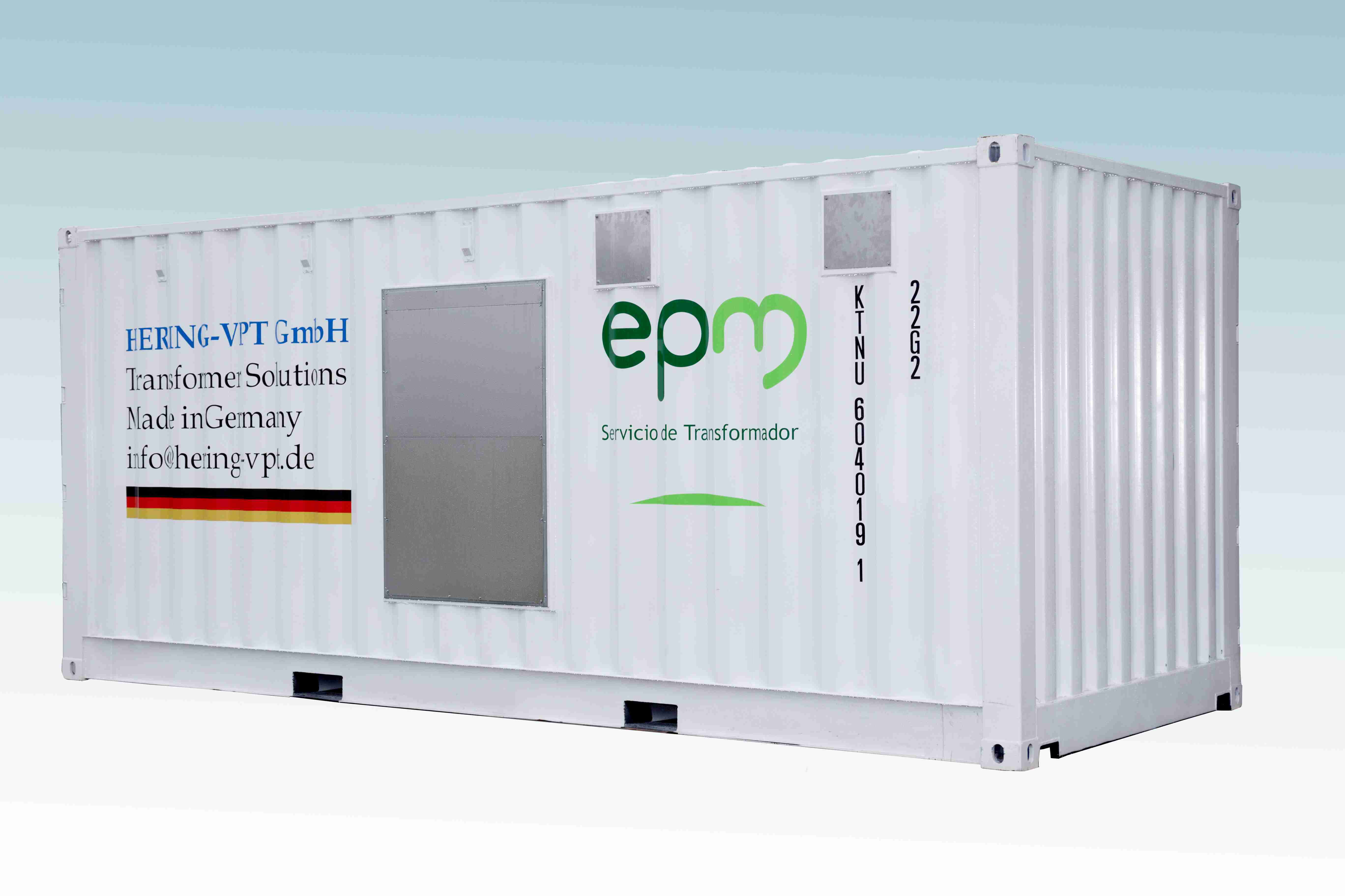 Transformer oil regeneration system container 4