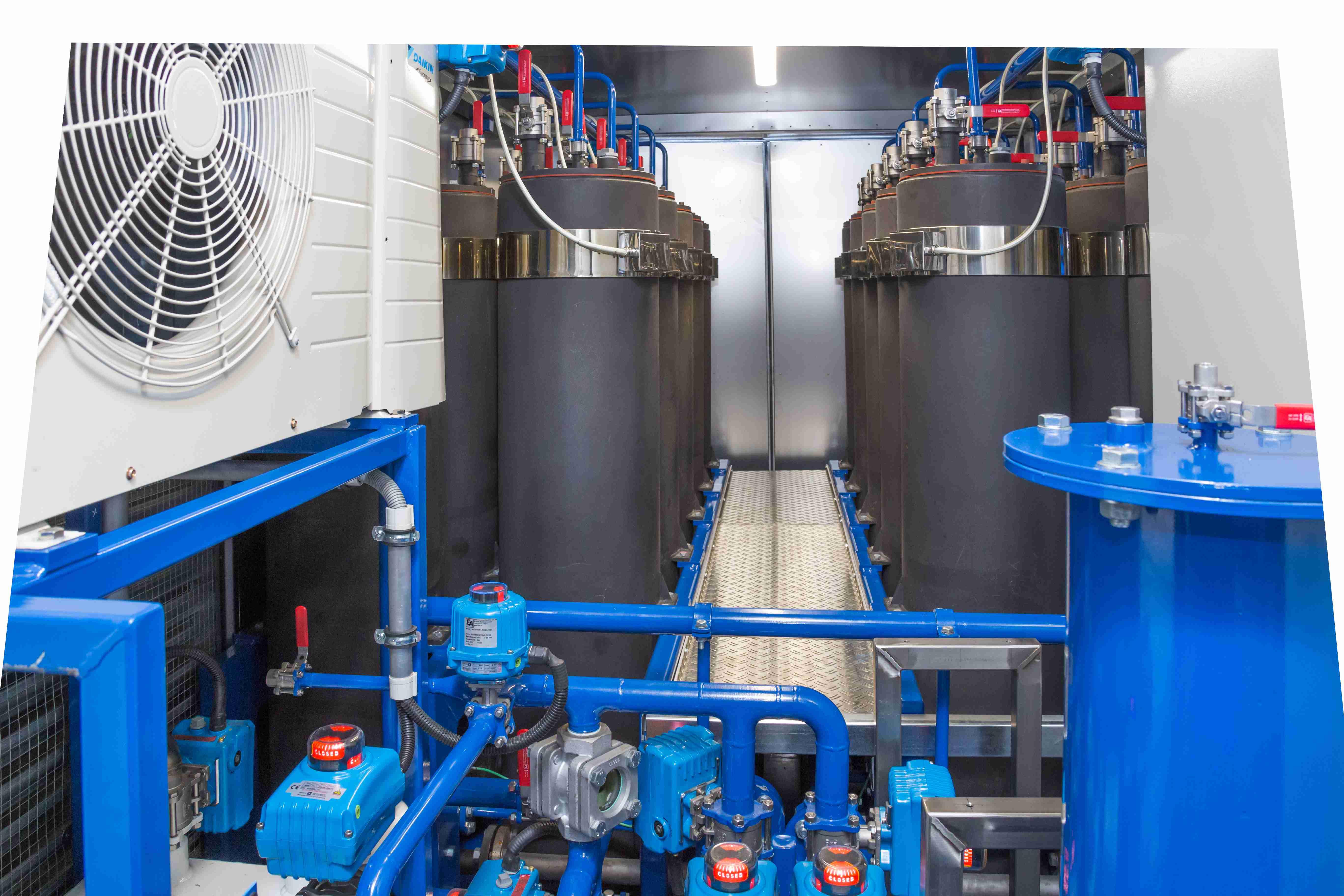 Transformer oil regeneration system column skid 3