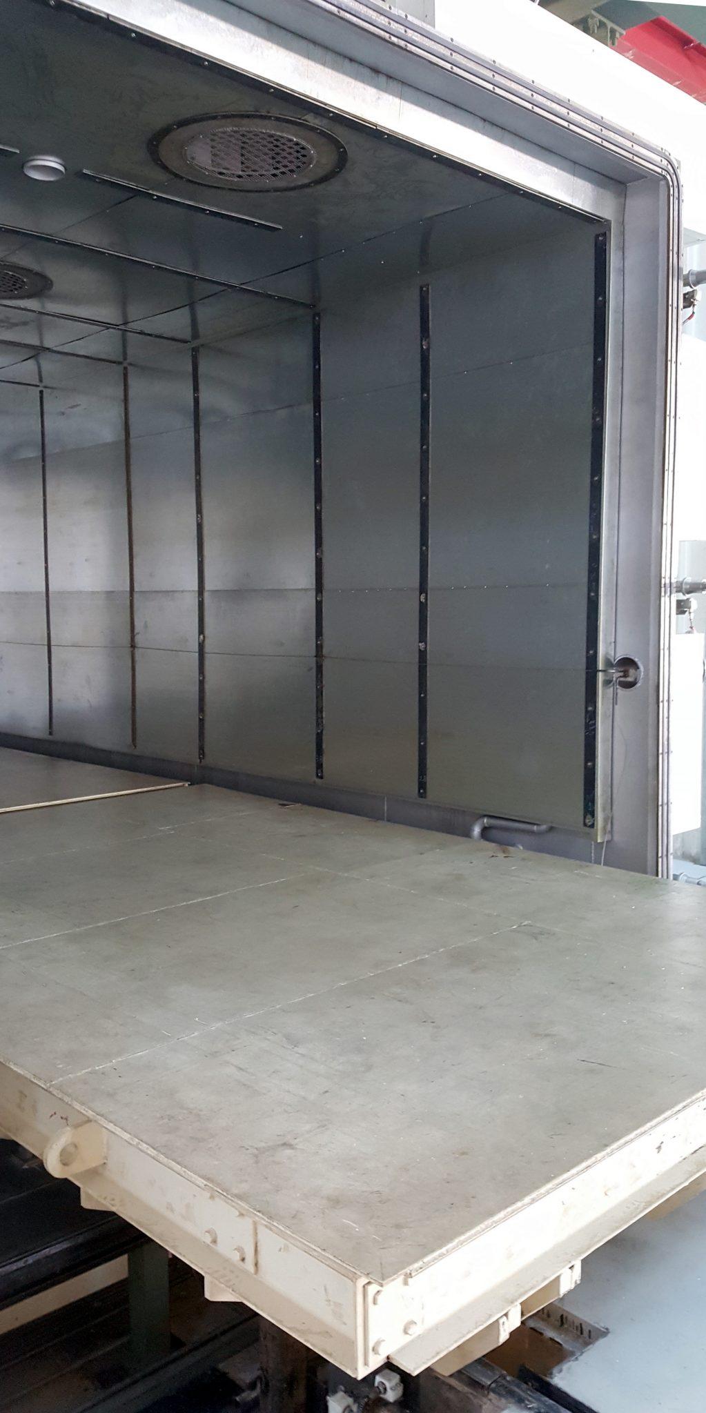 Vacuum transformer drying oven front door side view