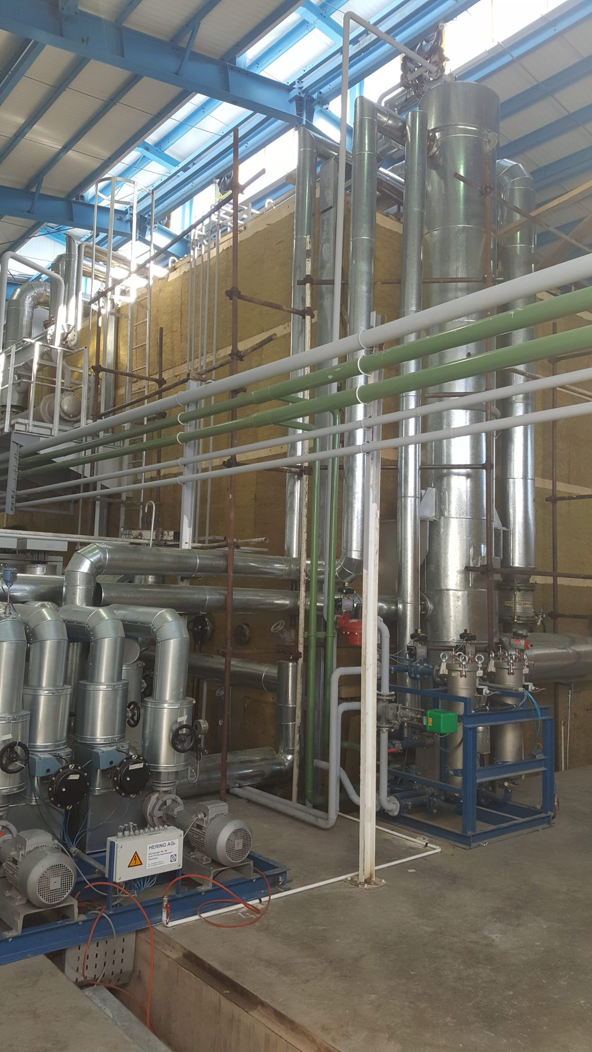 Hering transformer vacuum drying oven piping 2