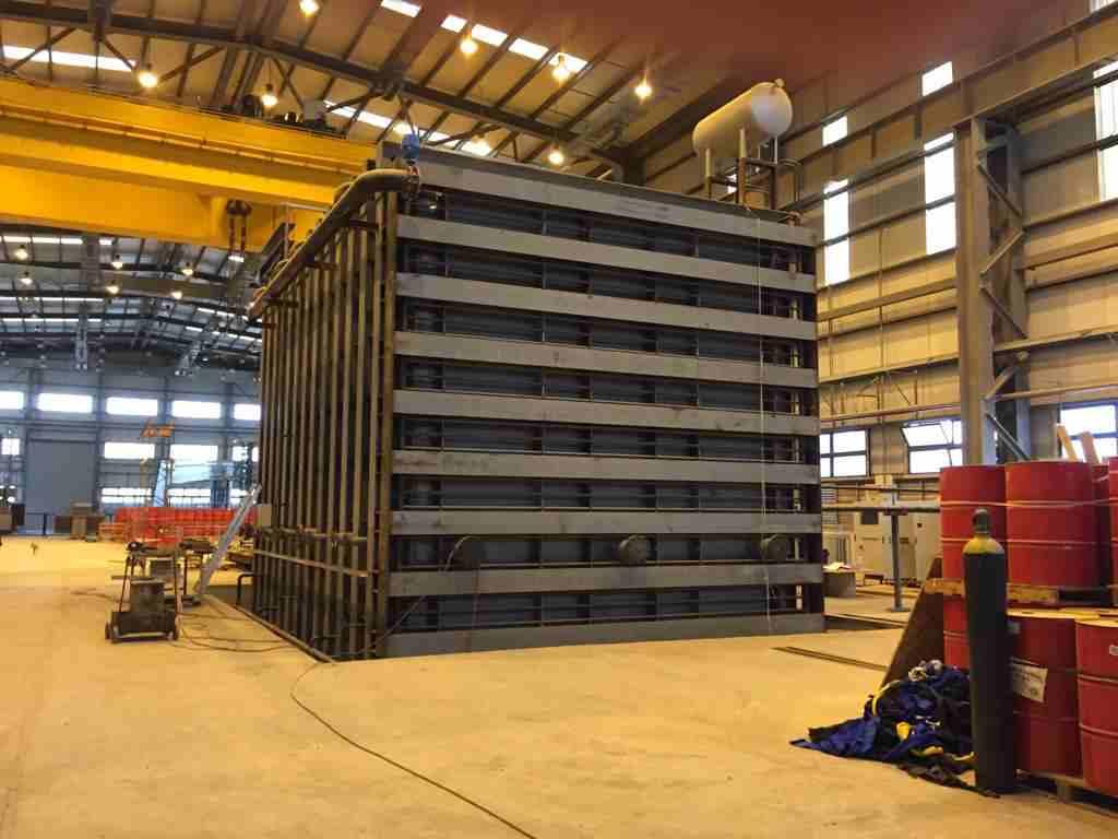 Large transformer vacuum drying chamber construction 2